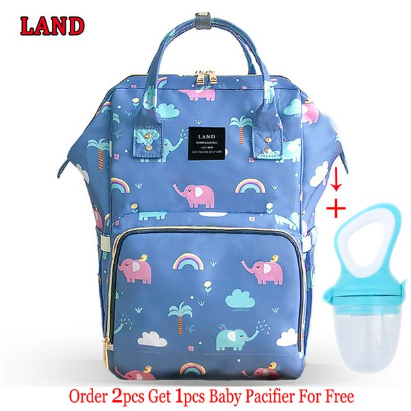 Land Diaper Bag Big Maternity Baby Bags Backpack For Mom Large Waterproof Nappy Fashion Mummy Bag For Stroller Bolsa Maternidade MX190727