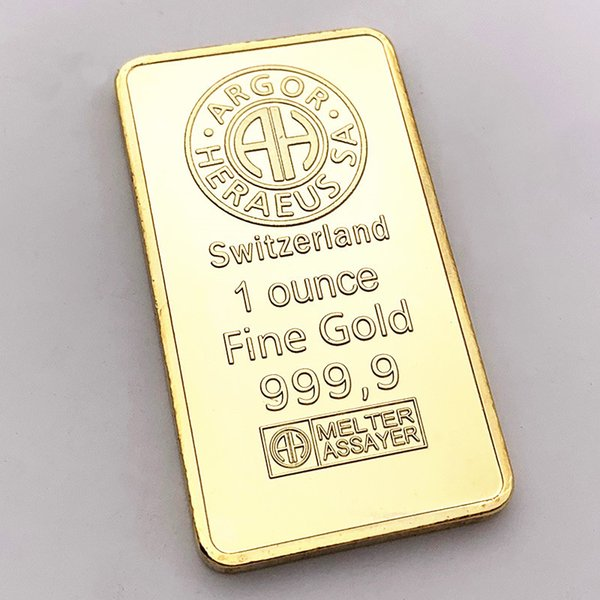 Swiss Credit Bank issued gold nuggets foreign commemorative gold nuggets coins foreign currency square gold plated medals