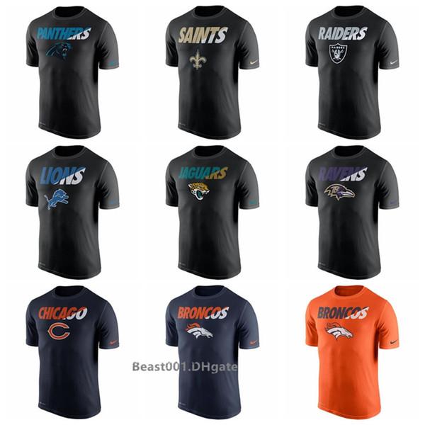 Hommes Femmes Jeunesse Panthers Saints Raiders Lions Jaguars Ravens Ours Broncos Colts T-shirt