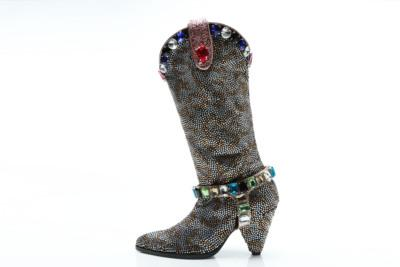 f64963cafe Hot Sale Women Luxury Glitter Rhinestone Embellished Slouchy Pull On Knee  High Boots Cone Heel Big Size Drop Shipping Football Boots Womens Boots  From ...