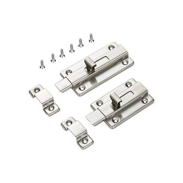 3''/4'' Stainless Steel Barrel Bolt Home Gate Window Safety Barrel Door Bolt Latch Sliding Lock for Door and Windows Latches