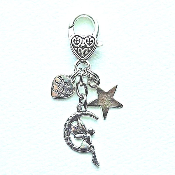 Mond Göttin Schutzengel Stern Herz Keychain Vintage Silber Flügel Charme Für Schlüssel Auto Schlüsselanhänger Geschenke Paar Handtasche Schlüsselanhänger Schmuck