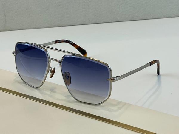 argento gradiente lente blu