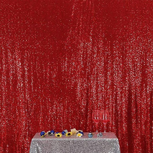 top popular Free Shipping Hot Selling 5FT* 8FT Red Sequin Fabric Photography Backdrop Wedding Backdrops Sequin Photo Booth Backdrop 2019