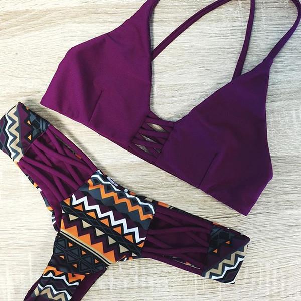 Yeni Bikini Seksi Kadınlar Mayo Bandeau Biquinis Yastıklı Maillot De Bain Femme Monokini Push Up Bikini Set Yaz Beachwear