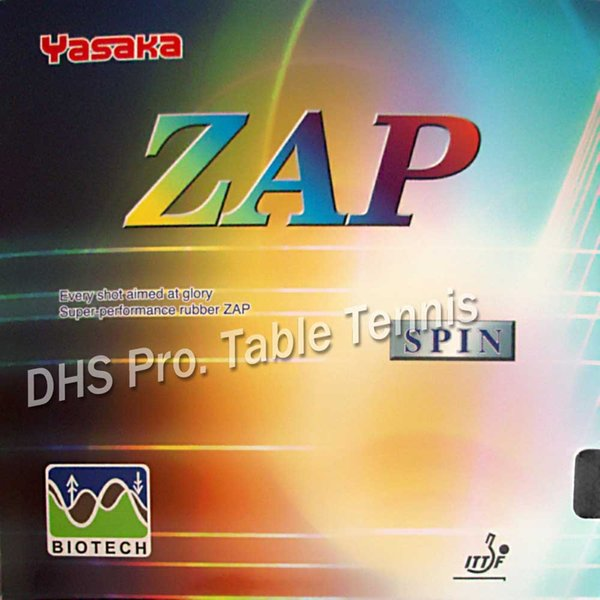 Yasaka ZAP SPIN BIOTECH Pips-in Table Tennis Rubber With Sponge NO ITTF