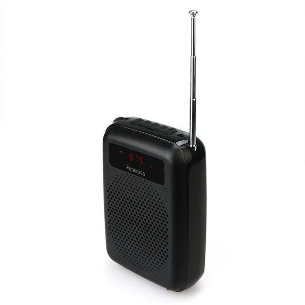 12 W Voz para maestros Radio FM Grabadora de audio Reproductor de MP3 Soporte Tarjeta TF / Unidad USB