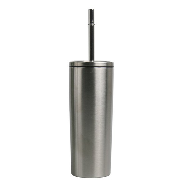 10oz stainless steel skinny tumblers leakproof cup with Threaded steel cover straight tumbler with straw coffee beer mug MMA2917-B1