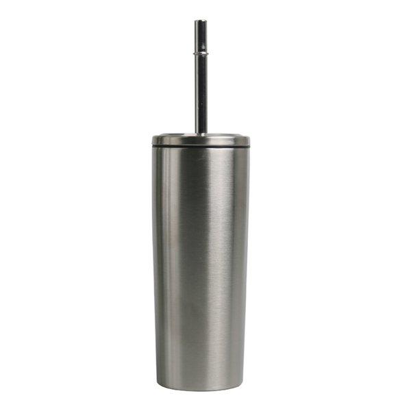 10 oz tasse de gobelets étanches maigre en acier inoxydable avec couvercle en acier fileté droit sec avec de la bière à café de paille tasse MMA2917-B1
