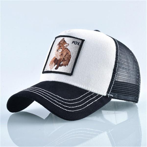 Cappelli di Snapback regolabili di Snapback dei cappucci di Snapback delle donne degli uomini ricamati degli animali ricamati casuali della maglia degli uomini delle donne di golf di modo