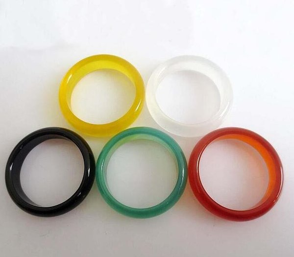 Colorido anillo de jade natural anillo anillo entrega gratis