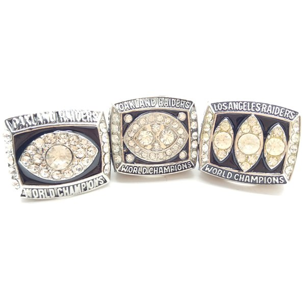 New Fashion Men's Ring 1980/1983/1976 Oakland Los Angeles Raiders Super Bowl Championship ring Manufacturer fast shipping