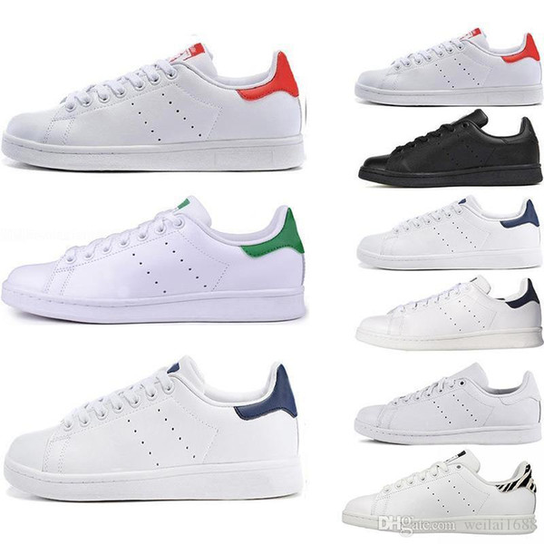 Top women's shoes men's new Stan fashion Smith sneakers casual leather sports shoes fashion luxury mens women designer sandals sho