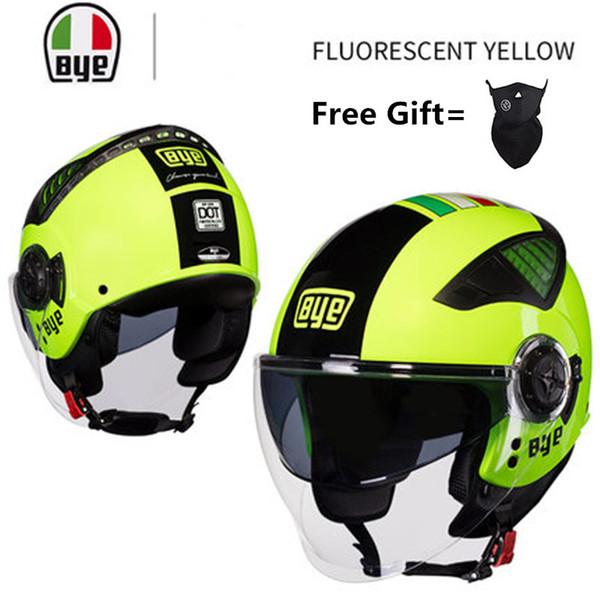 Nero jaune casque de moto 3/4 open face été jet scooter demi face moto casque capacete casco quatre saisons casques
