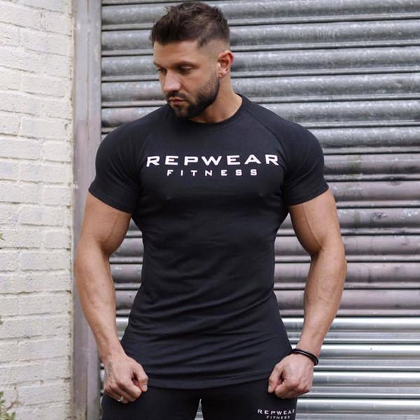 Herren Fitness Mode Sport T - Shirt Frühjahr und Sommer neue Marke T - Shirt Kompression schnell trocken Männer Casual T - Shirt