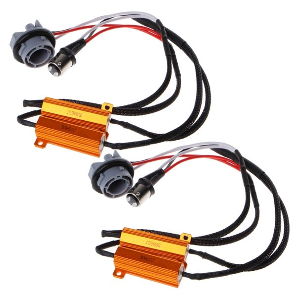 2x 1157 Carico lampadina resistore Decoder LED Hyper Flash Accendere la luce Canceller segnale