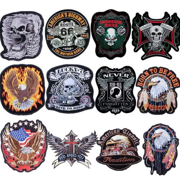 Parches Parche Ropa Para Hombres Vaqueros 66 Los Eagle Skull Route De Lucky Punk Los Compre De 7 ACDC Bordados Cuero Pantalones Pegatinas La Biker En thQrsdxC