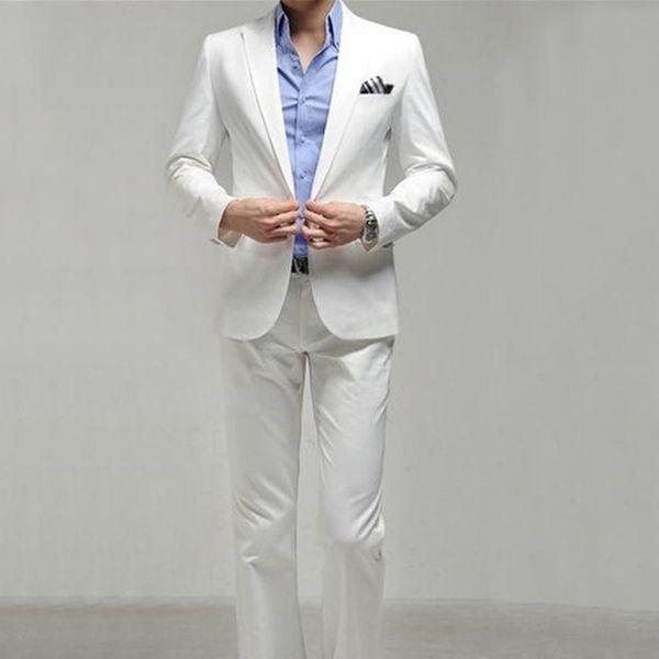 Hot Sale Fashion Mens Elegant Wedding Suits High Quality Slim Fit Business Formal Dress Suit For Men (Jacket+Pants)