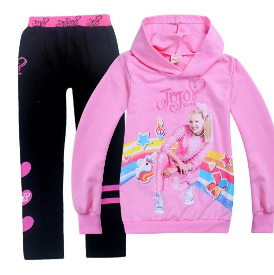 Clothing Set Tracksuits for Girls JOJO Siwa Hoody+Cotton Pants toddler Kids Teen hoodie Costume Thanksgiving toddler clothes