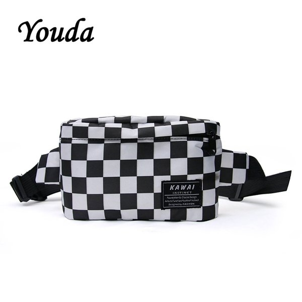 Youda Japanese Couple Chest Bag Women's Nylon Shoulder Bags Student Pockets Harajuku Style Mobile Phone Packet Headset Pouch