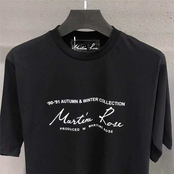 Martine Rose Men T-shirts 1a: 1 Mejor logotipo de calidad Impreso Mujer Hombre Estilo de verano Top Tees Camisetas Streetwear Martine Rose camiseta