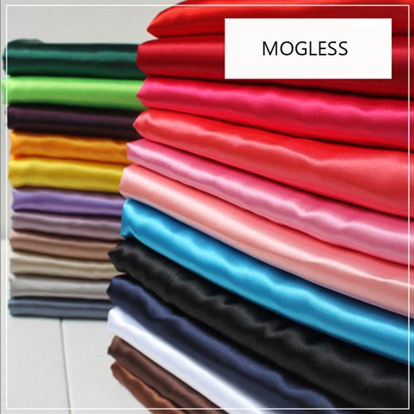 Mogless 2018 New Fashion Pure Color True Silk Scarf For Women Small Silk Scarf Bag Accessories Wrist Decoration 30 Colors