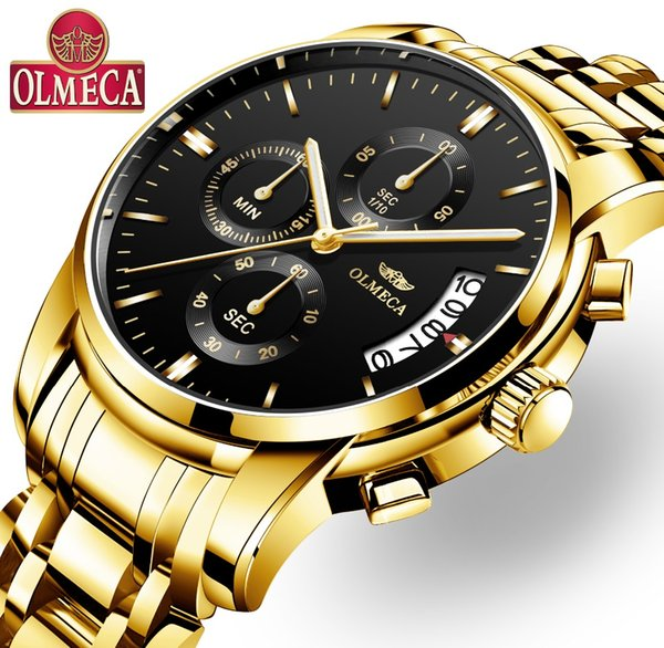 Men Watches Watch 3ATM Waterproof Clock Chronograph Wrist Watch Stainless Steel Quartz Relogio Masculino
