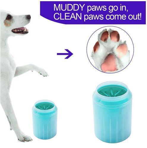Limpiador de pata de perro lavadora de pies para mascotas portátil cepillo de limpieza para mascotas taza taza perros perros limpiador de pies cepillo suave para pies fangosos artículos para el aseo de mascotas