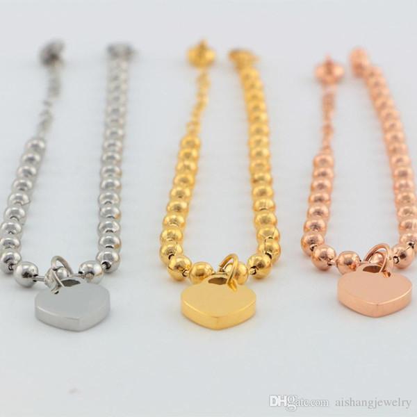 USpecial B48 yeni gelenler marka bilezik 18 K altın kaplama moda kadınlar için T kalp takı hediye parti takı