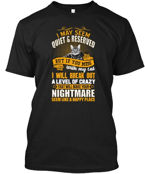 mens designer t shirts shirt 2019 mens designer t shirts shirt luxury Crazy Cat Lover Funny Saying Popular Tagless Tee T-Shirt