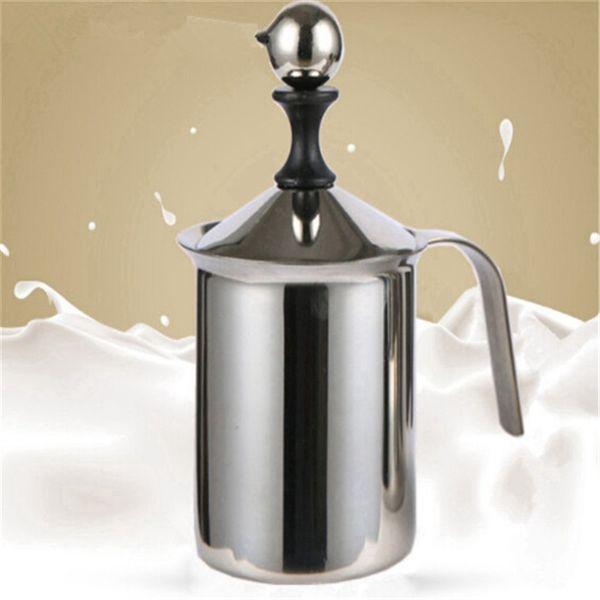 Hot Sale New Stainless Steel Mug Milk Frother Double Mesh Milk Creamer Milk Foam For Coffee Maker Kitchen Accessories