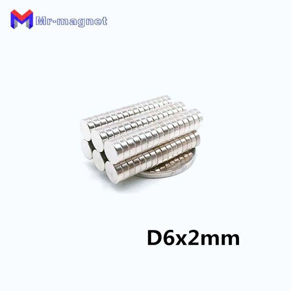 2019 imanes 100Pcs 6x2 Disco magnete al neodimio permanente N35 NdFeB Piccolo rotondo Super potenti magneti magnetico resistente 6mm x 2mm