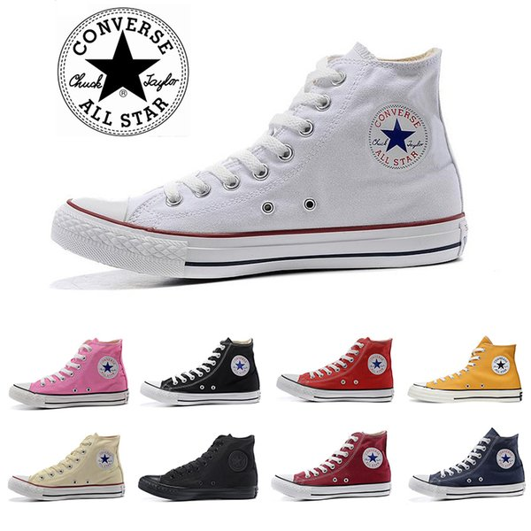 2019 ConverseShoes ConverseChuckTaylor Shoes Skateboard Men Women High Cut Black White Orange Red Classic Skate Sports Sneakers From Bilityty,