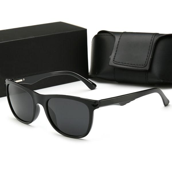 88102 Hombres Mujeres Tendencia de moda Gafas de sol polarizadas 54mm Lentes 5 Gafas de sol de color Estilo caliente Moda Tendencia Gafas de sol ocasionales