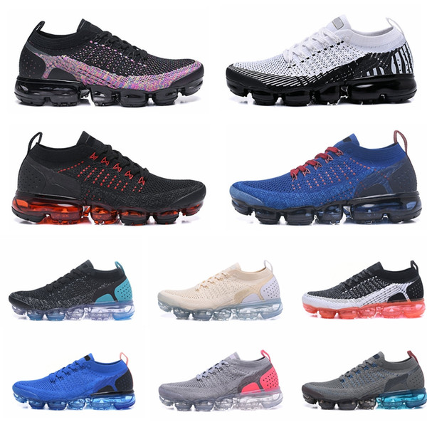 top popular 2020 New Designer Knit 2.0 Tn Plus Mens Women Running Shoes BHM Red Triple Black White Blue Sports Outdoor Jogging Sneakers Shoe 2019