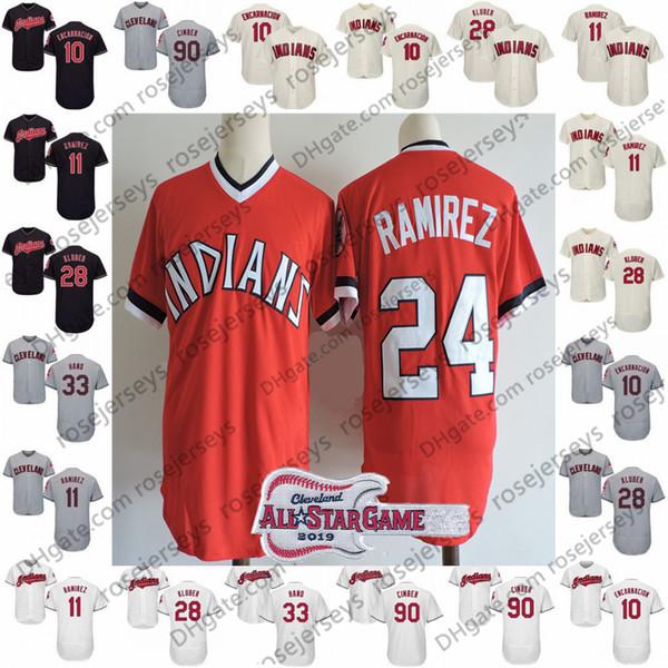 timeless design 1780a a96ee 2019 2019 Indians Jerseys Cleveland #7 Kenny Lofton 9 Carlos Baerga 24  Manny Ramirez 25 Jim Thome 99 Rick Vaughn 90 Adam Cimber All Star From ...