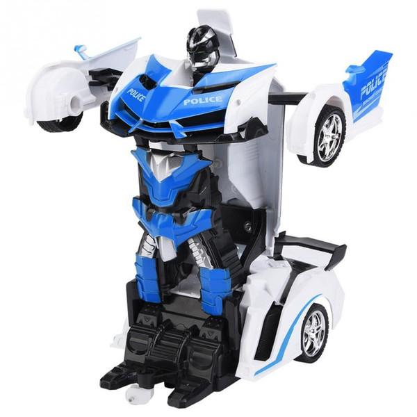 1/18 RC Deformation Car Transformation Robots Vehicle Model Robots Toys Cool Deformation Car Kids Toys For Boys Birthday Gifts