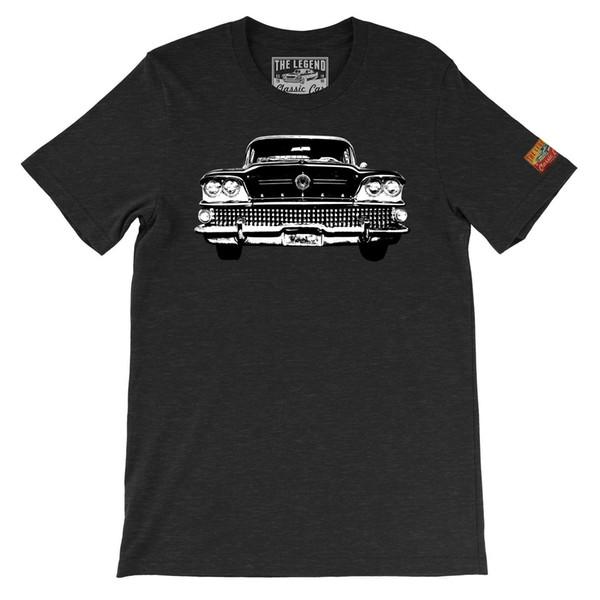 1958 Spécial The Legend Classic Car T-shirts Fabriqué aux États-Unis American Car T-shirt avec logo personnalisé photo du texte T-shirt Femme