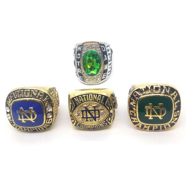 Nuevo anillo de los hombres de la moda 1973/1988/1977 Notre Dame Fighting Irish National Championship anillo fabricante envío rápido