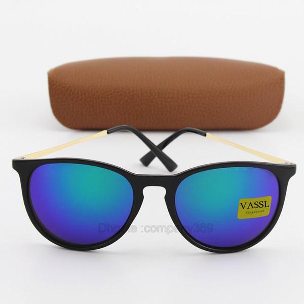 1 pz Hot Classic 54mm Vassl designer di marca Occhiali da sole donna uomo Matte Nero telaio Verde Guida UV400 Oculos 9 colori da scegliere con la scatola