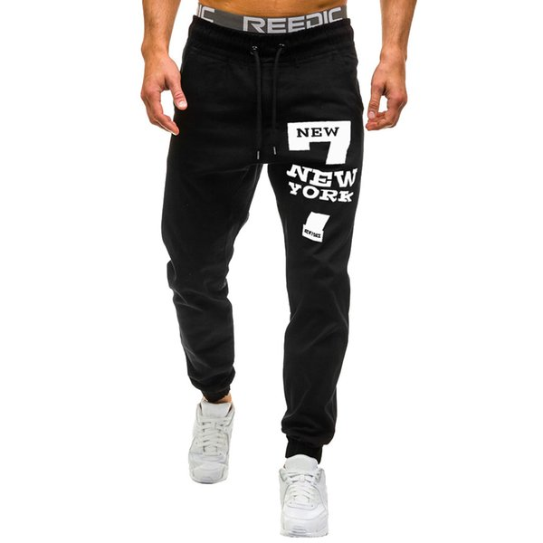 superior quality reliable quality exquisite style 2019 Men Sweatpants Slacks Casual Elastic Leggings Sport Print Baggy  Pockets Trousers Streetwear Pants Men Pantalon Homme 2019 NEW From Yolkice,  ...
