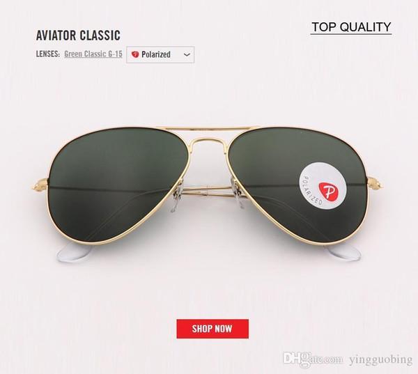 99d255f00e1d5 Aviation Top Brand Luxury Designer Polarized Glass Pilot Sunglasses Men  Vintage Retro Cool Glasses Women Driving