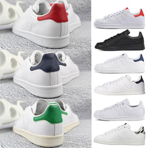 adidas stan smith OFF WHITE Mujeres de calidad superior hombres nuevos zapatos stan moda snith sneakers zapatos casuales de cuero deporte clásicos pisos 2019 Tamaño 36-45