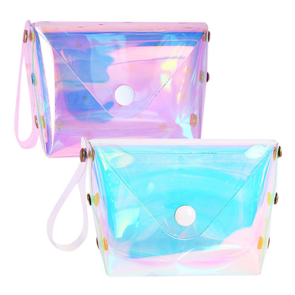 Sleeper # H5 2019 nuevas carteras de mujer Short Fashion Mini Jelly Lucency Coin Purse Card Holder Bag mini pouch flap Envío gratis