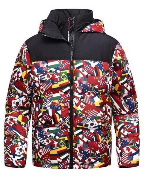 2019 Men Winter Jackets Coats Warm Down Jacket Outdoor Hooded Men's Face Down Parkas 9168