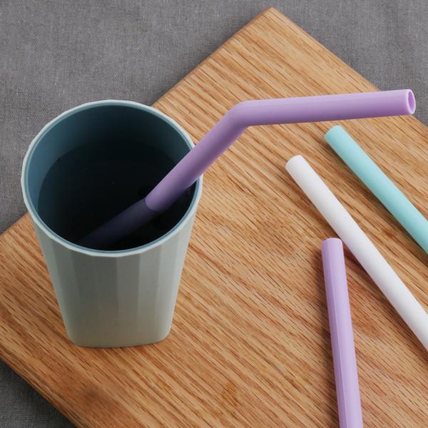Süßigkeit-Farben-beweglicher Silikon-Trinkhalme Hochzeit Recycling Gerade Biegung Pipette Barware Qualität Bar Küchenzubehör