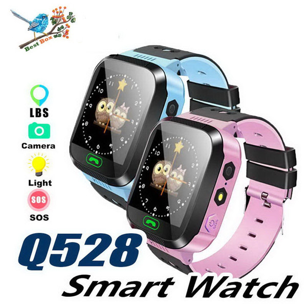 Touch Screen Q528 LBS Tracker WatchAnti-lost Children Kids Smart watch LBS Tracker Wrist Watchs SOS Call For Android IOS With Remote Camera