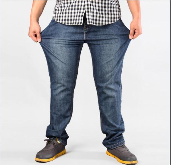 Hommes Plus Size Jeans / Pantalons jeans strech confortable 38 40 42 44 46 48 50 52 Mens Haut Stretch Large Pantalon Loose Jeans pour Hommes