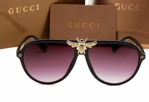 Diseñador de moda gafas de sol 714 clásico retro piloto plegable marco lente de cristal UV400 gafas de protección con estuche de cuero