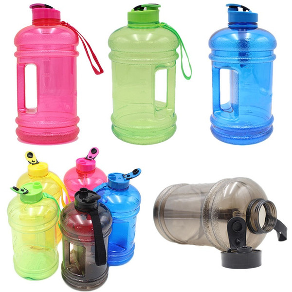2.2L PETG Large Capacity Water Bottle Training Sports Workout Drink Bottle G8